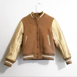 MOUSSY | Gold Bomber Jacket
